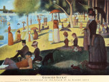 Sunday on la Grande Jatte, 1884 Art by Georges Seurat