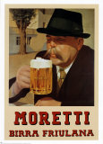 Bier &quot;Moretti&quot; Kunstdrucke