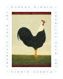 Rooster Facing East Affiches par Warren Kimble