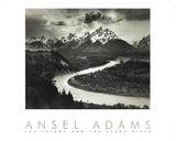 Ansel Adams - Yılan Nehri - Tablo
