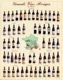 Grandes vinos tintos de Framcia Pósters