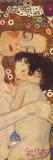 人生の三段階(女の生の三段階、人生の三世代) 1905年 ポスター : グスタフ・クリムト