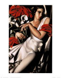 Portrait d&#39;Ira Print by Tamara de Lempicka
