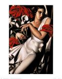Portrait d'Ira Prints by Tamara de Lempicka