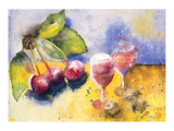 Glass and Cherry Prints by Witka Kova