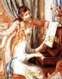 Girls at the Piano Reprodukcje autor Pierre-Auguste Renoir