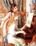 Girls at the Piano Kunstdrucke von Pierre-Auguste Renoir
