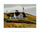 Collina e case, capo Elizabeth, Maine Poster di Edward Hopper