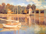 Pont d'Argenteuil Art by Claude Monet
