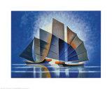 Ships I Posters av Louis Toffoli