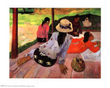 The Siesta Poster di Paul Gauguin