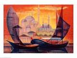 Istanbul Affiche par Louis Toffoli