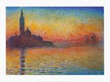 Crepuscule Posters av Claude Monet