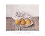 Three Pears on a Plate Art par Arthur Easton