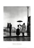 Msico bajo la lluvia Lminas por Robert Doisneau