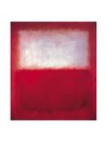 Hvitt over rødt Kunst av Mark Rothko