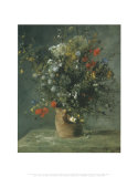 Fleurs dans un vase, vers 1866 Affiches par Pierre-Auguste Renoir