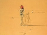 Female Figure With Head of Flowers, 1937 Posters af Salvador Dalí