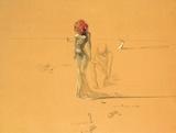 花の頭の女, 1937 ポスター : サルバドール・ダリ