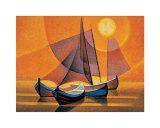 Barcos II Láminas por Louis Toffoli