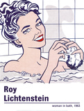 Woman in a Bath Affischer av Roy Lichtenstein