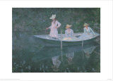 Boat at Giverny Prints by Claude Monet