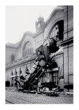 Zugunglück am Bahnhof Montparnasse, Paris, 1895 Kunstdrucke