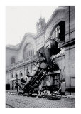 Train Accident at the Gare Montparnasse, Paris, 1895 Prints