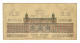 Ellis Island Poster by Roger Vilar