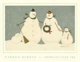 Snow Family Poster by Warren Kimble