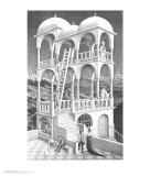 Belvedere Posters by M. C. Escher