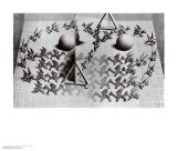 Magic Mirror Poster by M. C. Escher