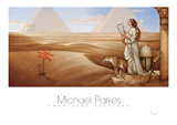 Desert Lotus Posters by Michael Parkes