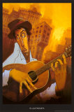 Gitarzysta (El Guitarrista) Sztuka autor Justin Bua
