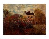 Artist's Garden Argenteuil Print by Claude Monet
