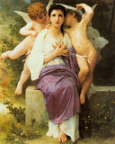 Awakening of the Heart Posters by William Adolphe Bouguereau