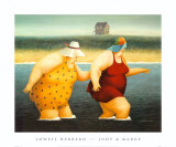 Judy and Marge Art by Lowell Herrero