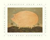 American Pig Kunstdrucke von Warren Kimble