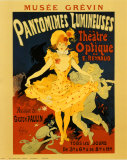 Pantomines Lumineuses Prints by Jules Ch&#233;ret