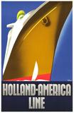 Holland-Amerika-Linie, 1930 Poster von Willem Ten Broek