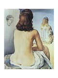 My Naked Wife Watching Her Body Posters van Salvador Dalí