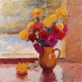 Bright Flowers Prints by Edward Noott