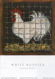 White Rooster Prints by Jessica Fries