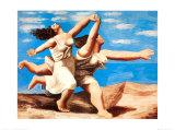 Mujeres corriendo en la playa, 1922 Láminas por Pablo Picasso
