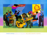 Jammin' at the Savoy Print by Romare Bearden