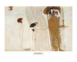 Beethoven Frieze: Desire For Happiness, c.1902 Art by Gustav Klimt