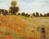 Les Coquelicots Poster by Claude Monet