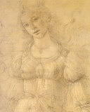 Drawing of a Woman Print by Sandro Botticelli