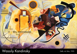 Gul, rød og blå, ca.1925 Plakater af Wassily Kandinsky