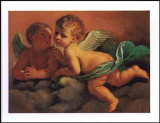 Angels Art by  Guercino (Giovanni Francesco Barbieri)